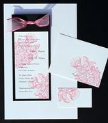 Orchid Letterpress Wedding Invitation Design