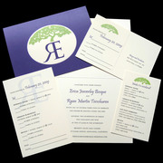 Royal Oak Letterpress Wedding Invitation Design