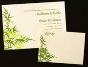 Serenity Letterpress Wedding Invitation Design