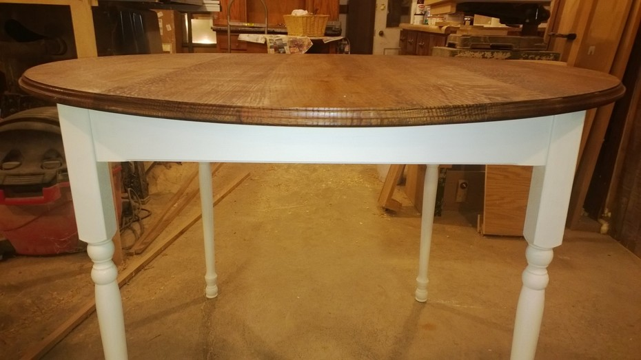 Close up of the table.