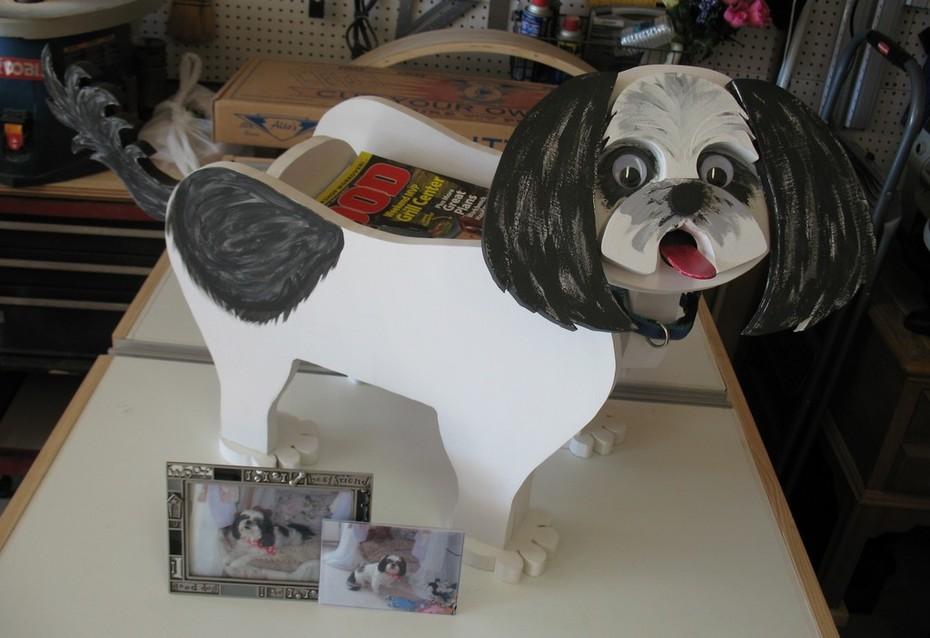 Dog Planter/Magazine Rack