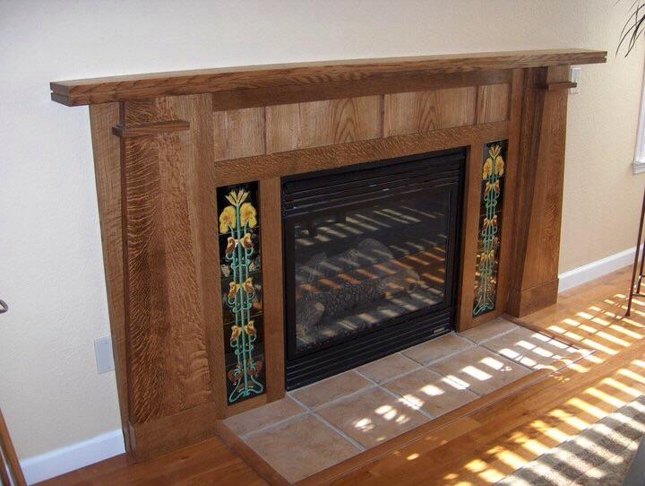 Craftsman-Style Fireplace Surround