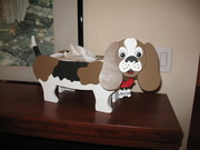 Dog planter/kleenex box holder