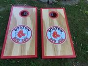 Red Sox cornhole boards