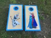 Frozen cornhole boards