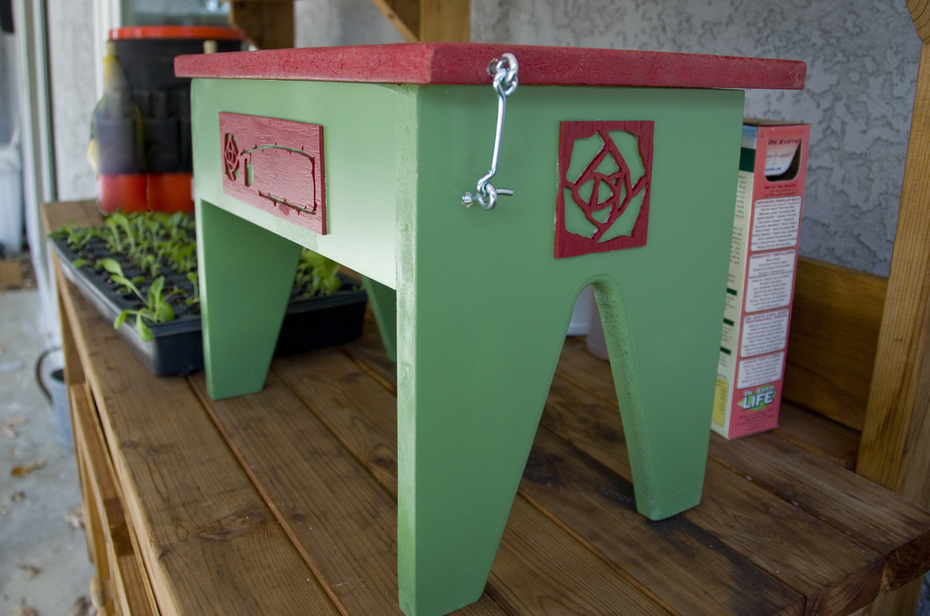 Gardening Toolchest Stool