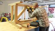 Assembling Trestle Base for Farmhouse Table