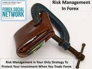 How you manage your risks when you trade Forex?