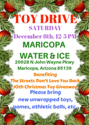 water and ice event for TSDLYB 10th annual toy drive