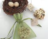 Bird Seed Heart Organza Bag Favors