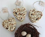 Bird Seed Heart Favors with Personalized Tags