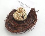 Bird Seed Heart Favors in a Bird Nest