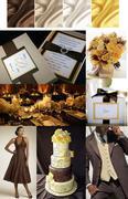 Chocolate Ivory & Yellow Inspiration Board