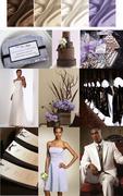 Chocolate Ivory & Lilac Inspiration Board