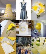 Yellow Navy Grey Inspiration Board