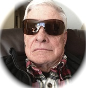Myself after cataract surgery sitting in my Lazyboy chair