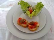 Prawns cocktails and bruschette bread