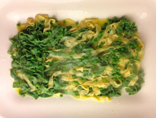 """Homemade pasta """"Paglia e fieno"""""""
