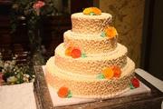 Orange Colored Wedding Cake