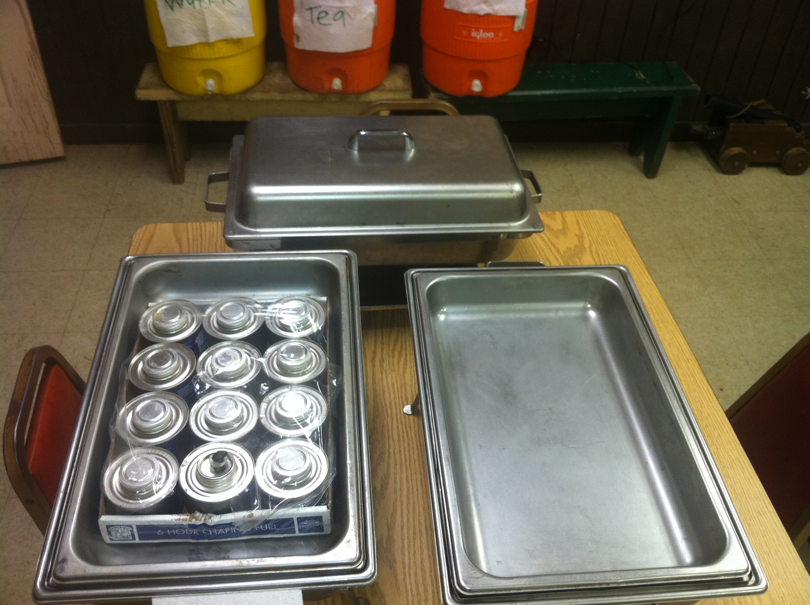 Chafing warming trays 2011