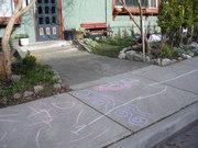 Chalk on sidewalk