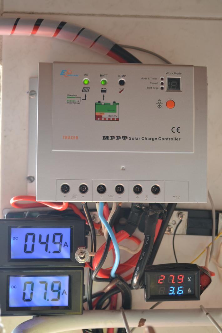 Correntes pelo Controlador MPPT Solar, gerenciado pelo Arduíno Nano