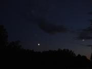 Убывающая Луна и что-то рядом...