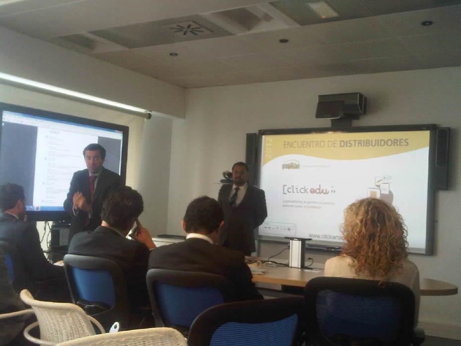 """Paulo Nunes @Groupvision explicando el acuerdo con @clickedu & @qualiteasy """"Vamos a luchar por la calidad de nuestra oferta a los centros educativos"""""""
