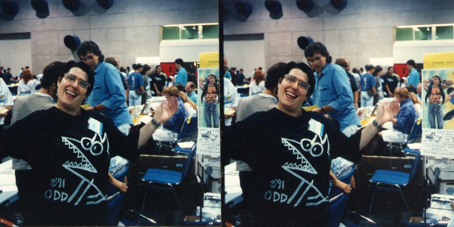 Debbie David, San Diego Comics convention, early 1990's