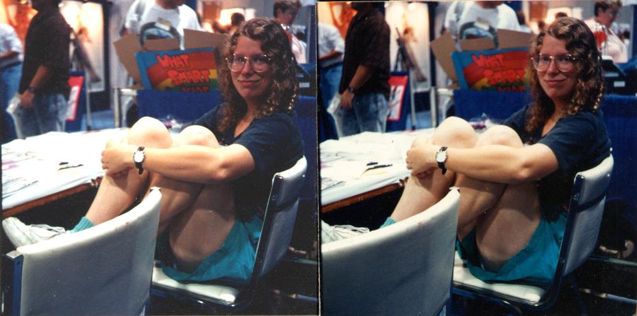 Nina Paley, San Diego Comics convention, early 1990's