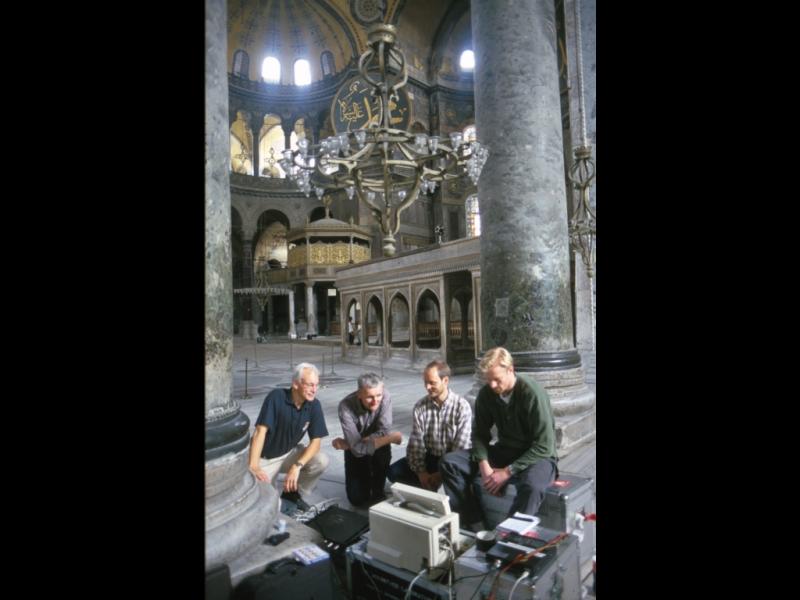 Odeon's team of sound engineers in Hagia Sophia