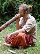 Playing didgeridoo