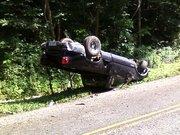 Roll over on Burkhalter Gap Rd