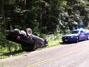 Roll over on Burkhalter Gap Rd With Ga State Car SWEET