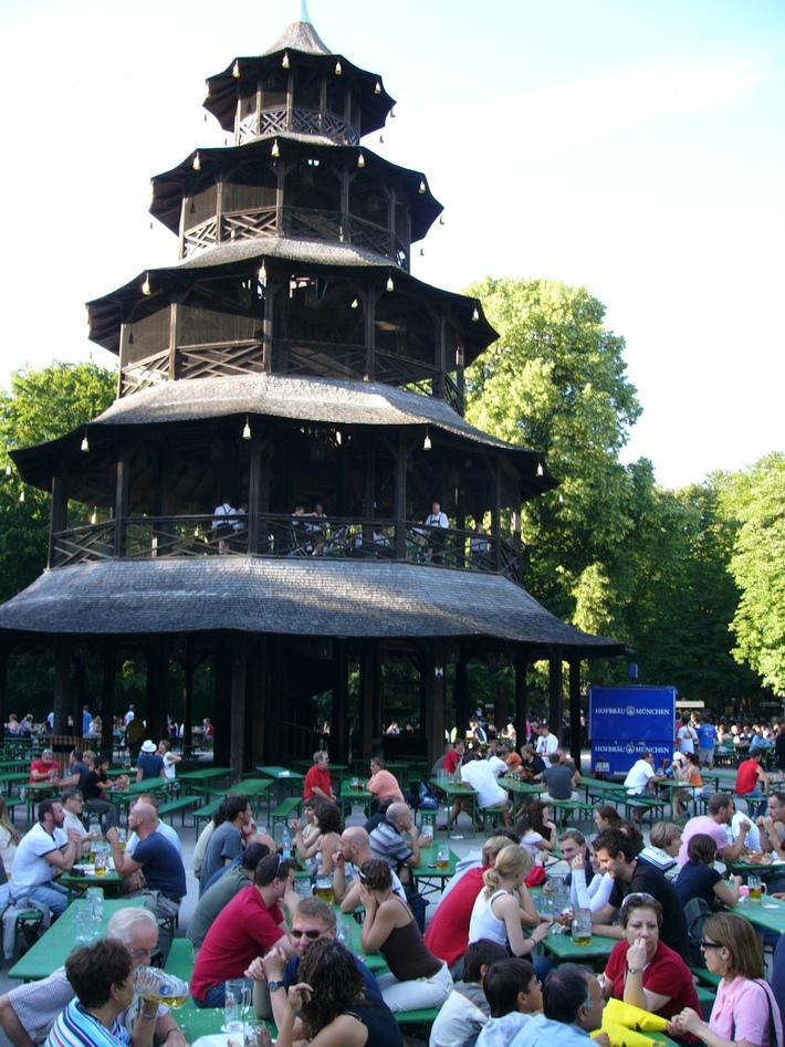 Munich Kinesische Turm beer garden