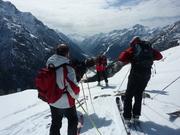 Skiing offpist