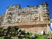 Engravings at Uxmal Yucatan Peninsula