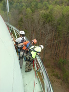 Water Tower Rescue Training