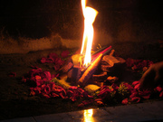 flame of the Mayan ceremony