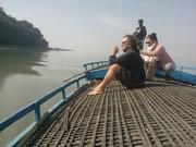 A Boat Safari in The Brahmaputra River