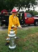 Johnnie at hydrant