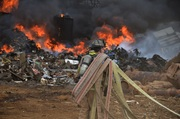 RECYCLING PLANT FIRE !!!!!