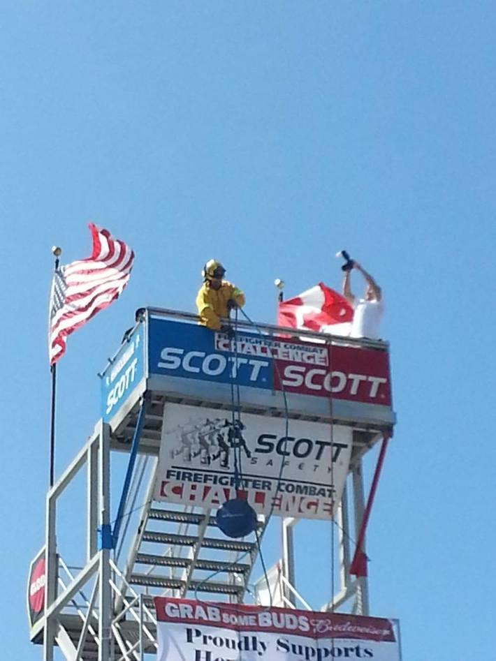 HazSim.com Supports the Scott Firefighter Challenge in Hermosa Beach, CA 2013