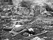 Dead Confederate Soldier at Gettysburg
