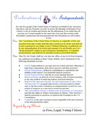 """""""Declaration of the INDEPENDENTS""""-HIGHLIGHTED"""