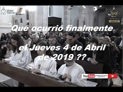 Qué ocurrió finalmente el 4 de Abril de 2019 ??