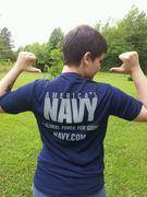 SR in Navy Shirt
