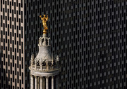 Civic Fame Statue on top of the Manhattan Municipal Building, Tribeca_ NY From the Air_Yann Arthus-Bertrand