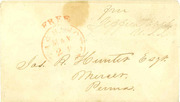 Jefferson Davis signed free franked envelope as member of US Senate
