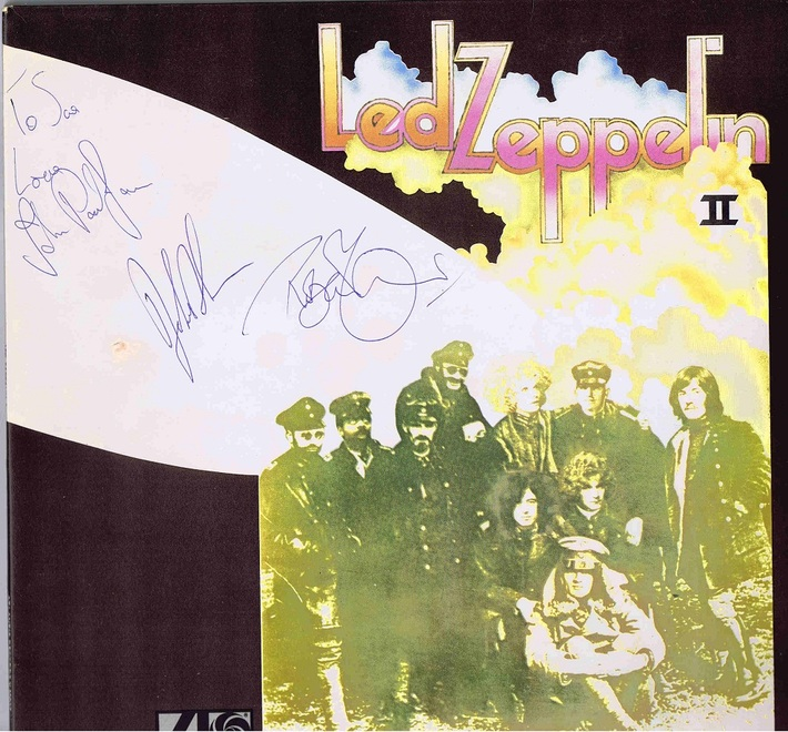 led zeppelin Autographed 2